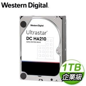 WD 威騰 Ultrastar DC HA210 1TB 3.5吋 7200轉 128MB快取 企業級硬碟(HUS722T1TALA604)