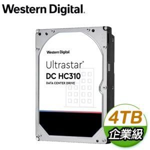 WD 威騰 Ultrastar DC HC310 4TB 3.5吋 7200轉 256MB快取 企業級硬碟(HUS726T4TALA6L4)