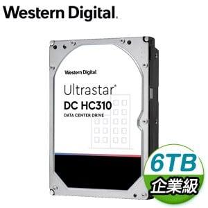 WD 威騰 Ultrastar DC HC310 6TB 3.5吋 7200轉 256MB快取 企業級硬碟(HUS726T6TALE6L4)