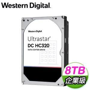 WD 威騰 Ultrastar DC HC320 8TB 3.5吋 7200轉 256MB快取 企業級硬碟(HUS728T8TALE6L4)