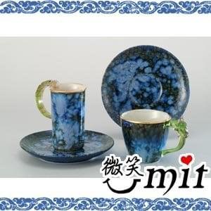 【微笑MIT】存仁堂/存仁堂藝瓷-金邊綠點對杯