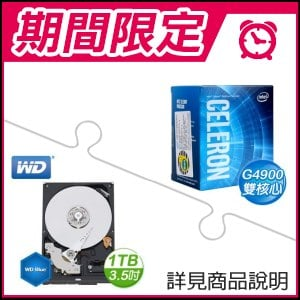☆雙11特賣★ G4900處理器+WD 藍標 1TB 3.5吋硬碟