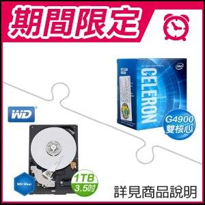 ☆雙11安可檔★ G4900處理器+WD 藍標 1TB 3.5吋硬碟