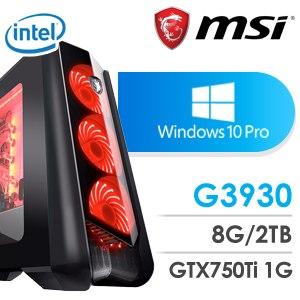 微星 影音系列【多多綠茶】G3930雙核 N750Ti 休閒電腦(8G/2TB/Win 10 Pro)