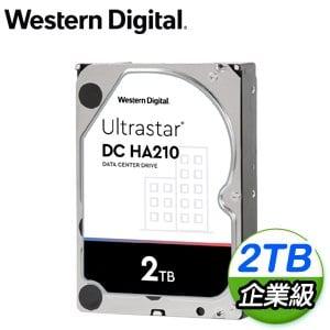 WD 威騰 Ultrastar DC HA210 2TB 3.5吋 7200轉 128MB快取 企業級硬碟(HUS722T2TALA604)