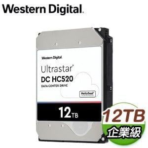 WD 威騰 Ultrastar DC HC520 12TB 3.5吋 7200轉 256MB快取 企業級硬碟(HUH721212ALE604)
