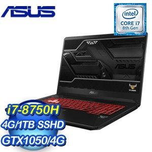 ASUS 華碩 FX705GD-0031B8750H 17.3吋筆記型電腦 (黑/i7-8750H/4G/1TB/GTX1050/Win10)