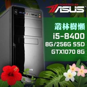 華碩 電玩系列【叢林樹懶】i5-8400六核 GTX1070 娛樂電腦(8G記憶體/256G SSD)