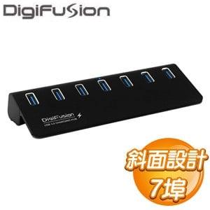 伽利略 USB3.0 7 Port 鋁合金 HUB(U3H07BC)《黑》