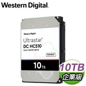 WD 威騰 Ultrastar DC HC510 10TB 3.5吋 7200轉 256MB快取 SAS企業級硬碟(HUH721010AL5200)