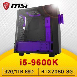 微星 電競系列【萬物之主】i5-9600K六核 RTX2080 超頻電腦(32G記憶體/1T SSD)