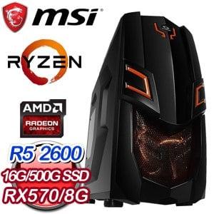 微星 電玩系列【寶庫大神偷】AMD R5 2600六核 RX570 娛樂電腦