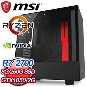 微星 電競系列【瘋魔口袋】AMD R7 2700八核 遊戲電腦(8G/250G SSD)