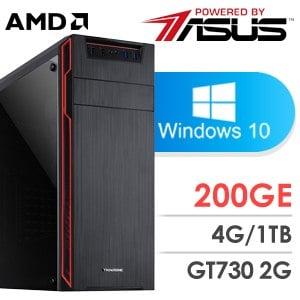 華碩 影音系列【封速狗】AMD 200GE雙核 GT730 休閒電腦