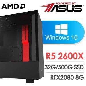華碩 電玩系列【宇宙帝王】AMD R5 2600X六核 RTX2080 超頻電腦