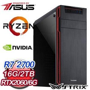 華碩 電競系列【神刀龍鱗】AMD R7 2700八核 RTX2060 遊戲電腦