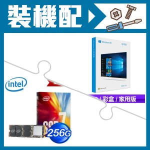 Windows 10 家用彩盒版(含USB)+Intel 760p 256G M2 SSD