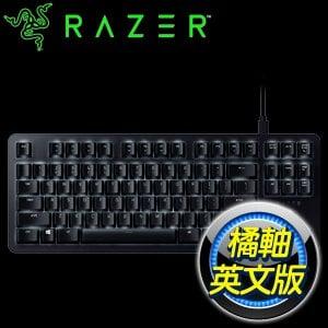 Razer 雷蛇 BlackWidow Lite 黑寡婦蜘蛛 80%輕裝版 橘軸 機械式鍵盤《英文版》RZ03-02640100-R3M1