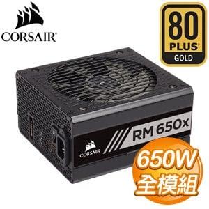 CORSAIR 海盜船 RM650X 650W 金牌 全模組 電源供應器(10年保) CP-9020178-TW