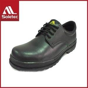 Soletec 皮革製 超鐵安全防護鞋 C1065(27/黑)
