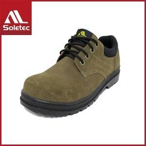 Soletec 反毛牛皮 超鐵安全工作鞋 E1015(26/棕 )