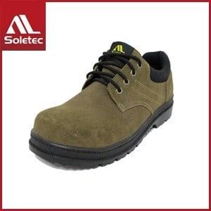 Soletec 反毛牛皮 超鐵安全工作鞋 E1015(27/棕 )