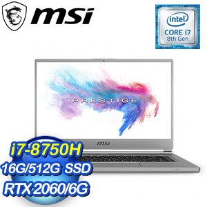 MSI 微星 P65 8SE-237TW 15.6吋筆記型電腦(i7-8750H/16G/512G SSD/RTX2060-6G/Win10)