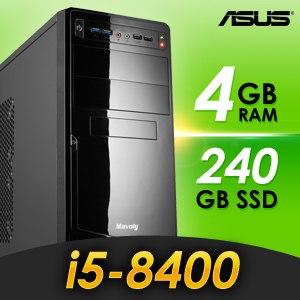 華碩 文書系列【小資聯盟】i5-8400六核 商務電腦(4G/240G SSD)