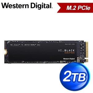 WD 威騰 SN750 2TB NVMe M.2 PCIe SSD固態硬碟(讀:3400M/寫:2900M/TLC)《黑標》WDS200T3X0C