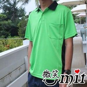 CHIAMEI 咖啡紗針織POLO杉 男款MS-301102-(綠)(M/L/XL/2XL)