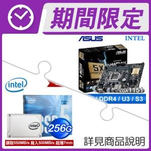 華碩 H110M-K 主機板+Intel 545S 256G SSD