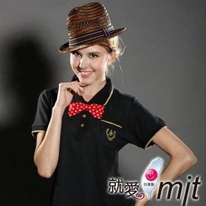 【微笑MIT】 Aiken Sport艾肯 女款短袖 精梳棉POLO衫 AK13733(黑)(XS/S/M/L/XL/2L/3L/5L)
