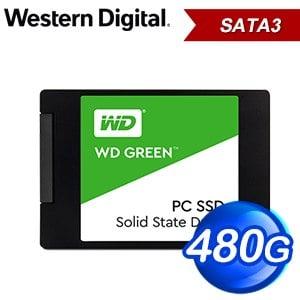 WD 威騰 480G 2.5吋 SATA SSD固態硬碟(讀:545M/TLC)《綠標》WDS480G2G0A