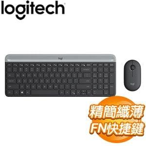 Logitech 羅技 MK470 超輕薄無線鍵鼠組《石墨灰》