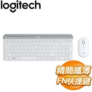 Logitech 羅技 MK470 超輕薄無線鍵鼠組《珍珠白》