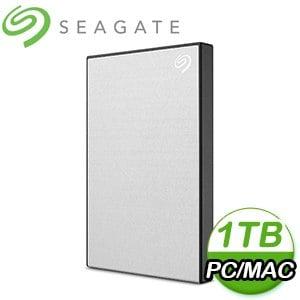 Seagate 希捷 Backup Plus Slim 1TB 2.5吋 USB3.0 外接硬碟(STHN1000401)《銀》