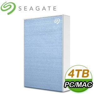 Seagate 希捷 Backup Plus Portable 4TB 2.5吋 USB3.0 外接硬碟(STHP4000402)《淺藍》