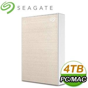 Seagate 希捷 Backup Plus Portable 4TB 2.5吋 USB3.0 外接硬碟(STHP4000404)《金》