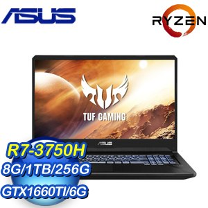 ASUS 華碩 FX705DU-0021B3750H 17.3吋筆記型電腦(R7-3750H/8G/1TB+256G SSD/GTX1660Ti/Win10)