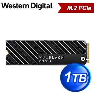 WD 威騰 SN750 1TB NVMe M.2 PCIe SSD固態硬碟(讀:3470M/寫:3000M/TLC/散熱片)《黑標》WDS100T3XHC