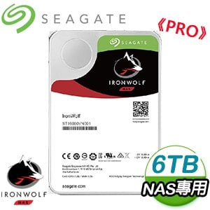 Seagate 希捷 那嘶狼 PRO 6TB 7200轉 NAS專用硬碟(ST6000NE000-5Y)