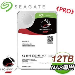 Seagate 希捷 那嘶狼 PRO 12TB 7200轉 NAS專用硬碟(ST12000NE0008-5Y)