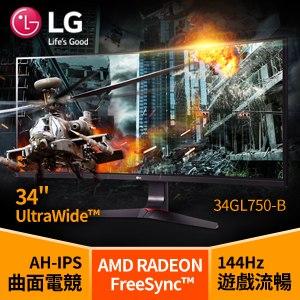 LG 樂金 34GL750-B 34吋曲面電競螢幕