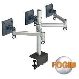 【FOGIM】夾桌懸臂式液晶螢幕支架(三螢幕)-終身保固-TKLA-6033C1