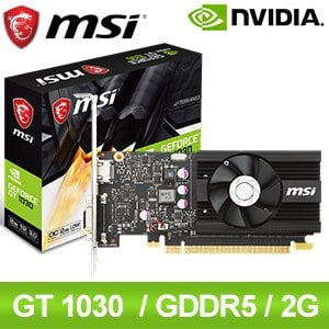 MSI 微星 GT 1030 2G LP OCV2 顯示卡
