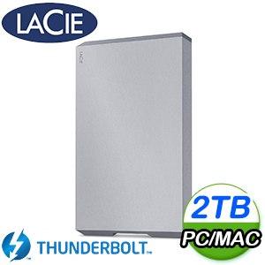 LaCie 2TB Mobile USB3.1 TypeC 2.5吋外接硬碟(STHG2000402)