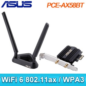 【搭機價】ASUS 華碩 PCE-AX58BT WiFi 6 PCIE無線網卡