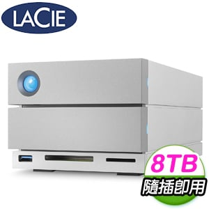 LaCie 8TB 2big Dock Thunderbolt3 3.5吋外接硬碟(STGB8000400)