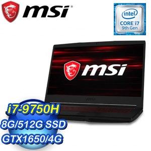 MSI 微星 GF63 9SC-680TW 15.6吋筆記型電腦(i7-9750H/8G/512G SSD/GTX 1650/W10)