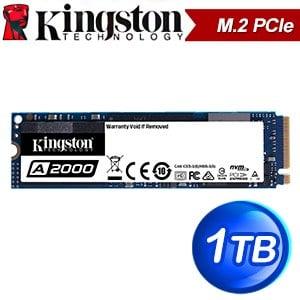 Kingston 金士頓 A2000 1TB M.2 PCIe SSD固態硬碟【五年保】(讀:2200M/寫:2000M/TLC)